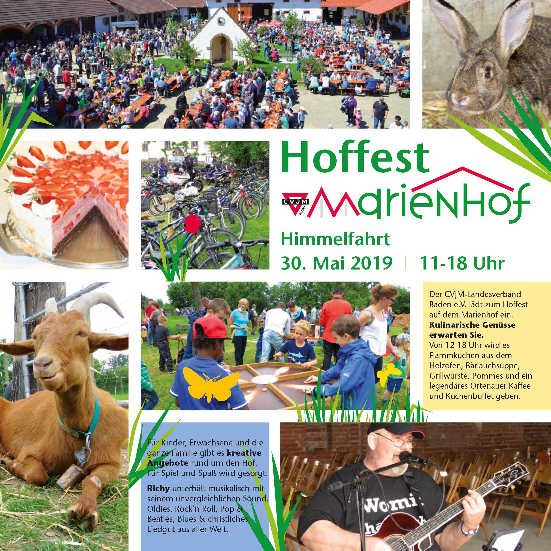 CVJM Marienhof Hoffest 2019 Flyer S1-2